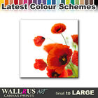 Poppies Flower FLORAL  Canvas Print Framed Photo Picture Wall Artwork WA