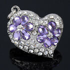 Silvery Heart Crystal Rhinestone Shinny Pendant For Necklace Jewelry Making