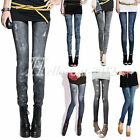 Sexy Lady Girl Women Denim Jeans Look Leggings Tights Pants Thin Thick Wholesale