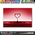 Heart Water Splash ABSTRACT  Canvas Print Framed Photo Picture Wall Artwork WA