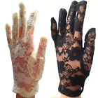 New Elegant Ladies Short Lace Gloves Costume, Available in White - Ivory - Black