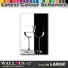 Wine Glasses FOOD & DRINK  Canvas Print Framed Photo Picture Wall Artwork WA