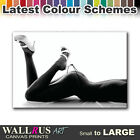 Thong Girl NUDES EROTIC  Canvas Print Framed Photo Picture Wall Artwork WA