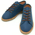 New Lace Up Modern Casual Canvas Sneakers Womens Shoes Blue