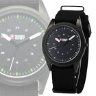 Genuine Shark Army Black Dial Men Nylon Band Military Sport Quartz Wrist Watch