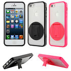 Evecase Hybrid TPU Cover Case With Rotated Kickstand For iPhone 5 5G 6th Gen