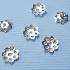 800 x 6mm or 600 x 8mm Silver Plated Flower Bead Caps Findings Wholesale