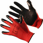 12 PAIRS NITRILE SAFETY BUILDERS WORK GLOVES PROTECTIVE CONSTRUCTION GARDEN DIY