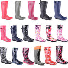 New Ladies Waterproof Wellies Boots Festival Snow Rain Mud Sizes UK 3 4 5 6 7 8