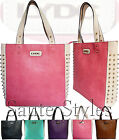 Ladies LYDC Leather Style Designer Hobo Tote Shopper Studded Bag Satchel Handbag