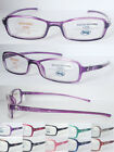 (R330H) Plastic frame reading glasses with design on arm included glasses case