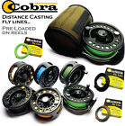 COBRA Distance Casting Fly Line Pre-Loaded on LA Fly Reels - Optional Reel Pouch