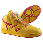 Reebok Sir Jam Mid Mens Hi Top Trainers Courier Pack DHL Yellow Red Leather