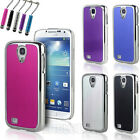 Fits Samsung Galaxy S4 i9500 Brushed Aluminum Chrome Hard Case Cover