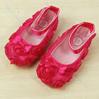 1 Pair Kids Baby Girl Princess Cute Rose Flower Toddler Shoes 3-18 Months 2 Colo