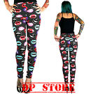 TOO FAST LIPS RETRO LEGGING ZOMBIE EMO GOTHIC PUNK JEANS ROCKABILLY PANTS GOTH