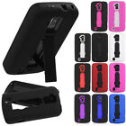 For Sprint Boost Force IMPACT Hard Rubber Case Phone Cover Kickstand accessory