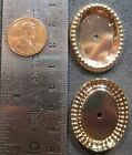 VINTAGE 35mm x 28mm Beaded Edge Oval Holed Bezel Setting Stamping - 2 Styles