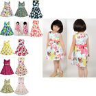 New Girls Dress Flower Print Multi-color Party Child Clothes Size 2-10