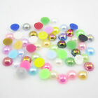 200pcs Half Round Pearl Bead Flat Back Size 6mm Scrapbook for Craft colors AB