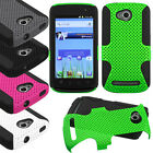 For Coolpad Quattro 4G 5860e MESH Hybrid Silicone Rubber Skin Case Phone Cover