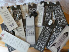 Vintage Black Cream Bookmark Wisdom Wise Word Inspirational Quote East of India