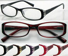 D(R356C)3 Pairs Plastic Reading Glasses/5Colours/Spring Hinge/Aspheric Lenses