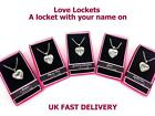 Personalised Name Love Lockets Necklace-Sophia/Sophie/Stacey/Steph/Stephanie/Tia