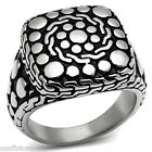 Mens Free Design Silver Stainless Steel No Stone Ring