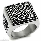 Mens Heavy Freestyle Silver Stainless Steel No Stone Ring