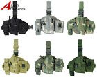 Airsoft Molle QD Versatile Drop Leg Holster w/Radio Pouch 5 Colors Black/Tan/ACU
