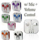 Earpod Handsfree Earphone Headsets+Mic+Volume Remote for iPhone 5 4 4S iPod iPad