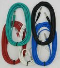 """20ft / 6 Metre 6m Jack Electric Guitar Cables Leads Wires Pedal 1/4"""" 6.35mm"""