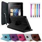 LEATHER SMART CASE COVER STAND - AMAZON KINDLE FIRE WITH SLEEP WAKE UK
