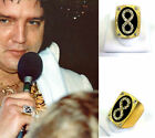 ELVIS LAST CONCERT ETERNITY LIFE RING 1977 SUNDIAL SUIT SILVER CZ BRASS