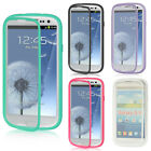 For Samsung Galaxy S3 S III TPU Wrap Up Phone Case + Built In Screen Protector