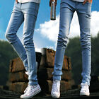 Korean Tide Male Fashion Stretch Skinny Slim Fit Thin Feet Pant Pencil Jeans R21