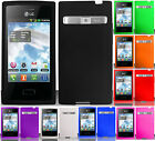 For Verizon LG Optimus Zone VS410 Rubber SILICONE Skin Soft Gel Case Phone Cover