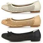 New Womens Ribbon Summer Ballet Low Heels Flats Loafers Slip-On Shoes