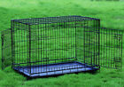 "42"" Large 2 Door Dog Crate Cat Cage Kennel Lab Retriever Boxer Dalmation Poodle"
