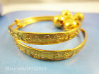 Wholesale Lots Gold Plated Lovely Children Kid Baby Bell Bangle Bracelet Anklet