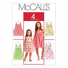 McCall's 5613 Paper Sewing Pattern to MAKE Easy Girls' Pullover Flared Dress