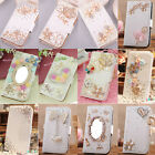 Rhinestone Crystal Pu Leather Bow Flower Crown Wallet Case Cover For Iphone 5