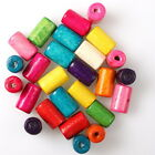 112635 Wholesale Hot Fashion Colorful Cylinder Charms Wooden Spacer Beads 6x10mm