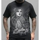 Sullen Pin Up Punk Street Gothic Devil Rockabilly Tattoo Skulls Mens Tee STREETS