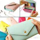 WRISTLET CLUTCH WALLET PURSE PHONE POUCH CASE FOR IPHONE 5/4S GALAXY S2/S3 BD2K