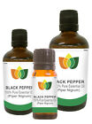 Black Pepper Essential Oil Pure Natural Authentic Piper Nigrum Aromatherapy