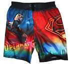 SUPERMAN UV 50 Bathing Suit Swim Trunks w/ Pocket NWT Boys Sz. 4/5, 6/7 or 8 $25