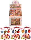 Girls Wooden Bracelets diy craft kits,party bag toys,gift,3 designs to choose
