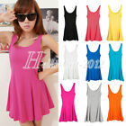 Fashion Women's Candy Color Sweet Vest Dress Casual Sleeveless Tank Top T-Shirt